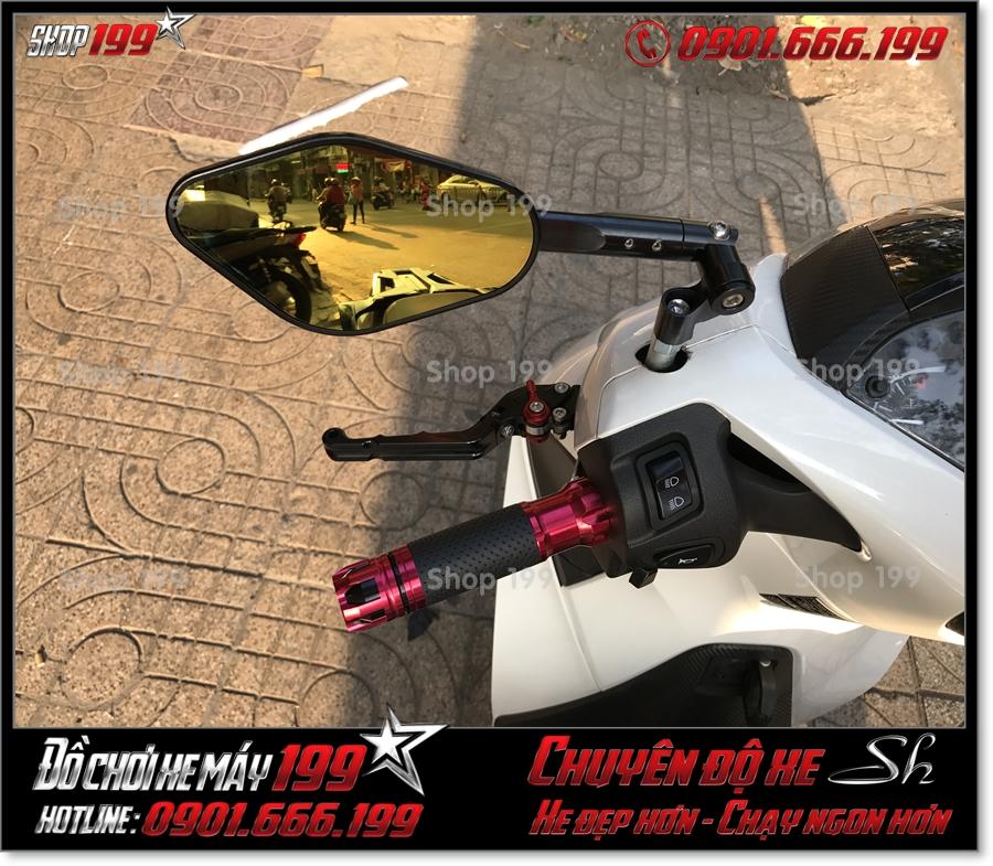 Photo Honda SH 125 150 2017 2018 2019 độ bao tay độ kiểng hiệu Rizoma, phụ kiện Honda SH 125 150 2017 2018 2019 đẹp giá rẻ ở TP HCM