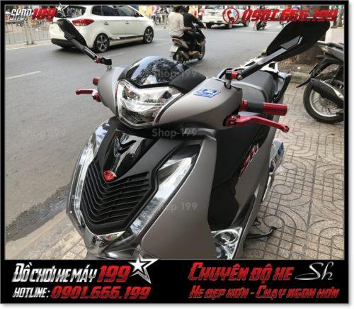 Xem ảnh xe Honda SH 125 150 2017 2018 2019 thay mặt nạ kiểng cao cấp, phụ kiện giá rẻ trang trí xe đẹp ở HCM