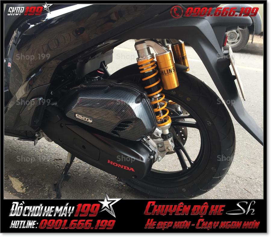 Xem ảnh Honda SH 125 150 2017 2018 2019 độ giảm shock sau có bình dầu Ohlins original cao cấp ở SG