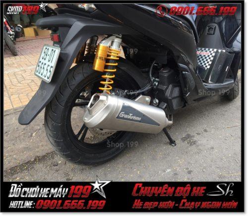 Xem ảnh xe SH 125 150 2017 2018 2019 độ pô Granturismo original Italia cao cấp giá rẻ ở Sài Gòn