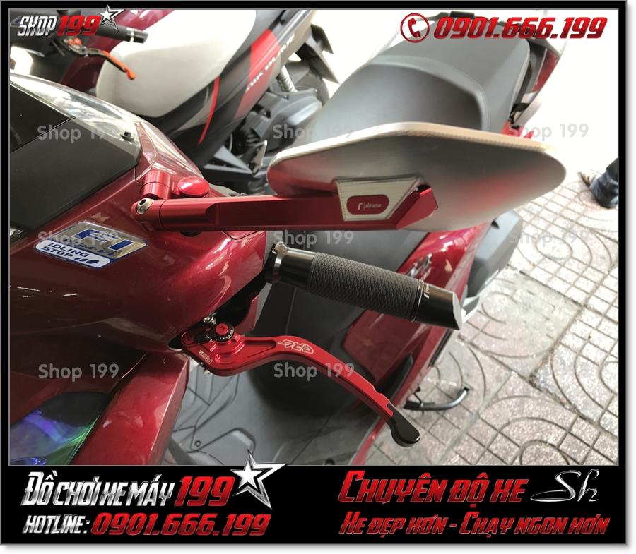 Image of gắn phụ kiện tay thắng CRG nhôm nguyên khối cnc cho xe SH 2017 2018 2019 125 150 giá rẻ