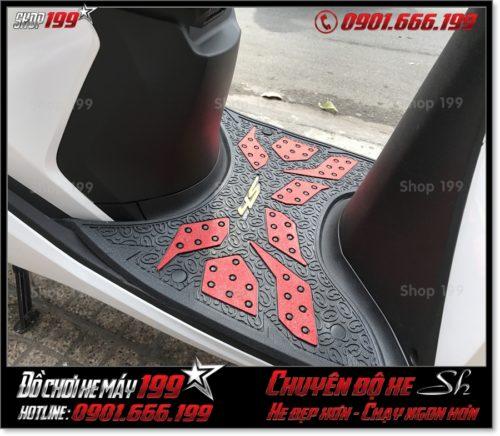 Hình ảnh xe Honda SH 2017 2018 2019 125 150 thay thảm gác chân cao su Thái Lan giá rẻ phụ tùng SH độ đẹp ở shop 199