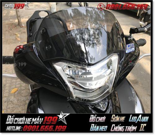 Picture of Honda SH 150/125 2017 gắn kính chắn gió hàng nhập từ Thái đẹp mắt giá rẻ tại 199