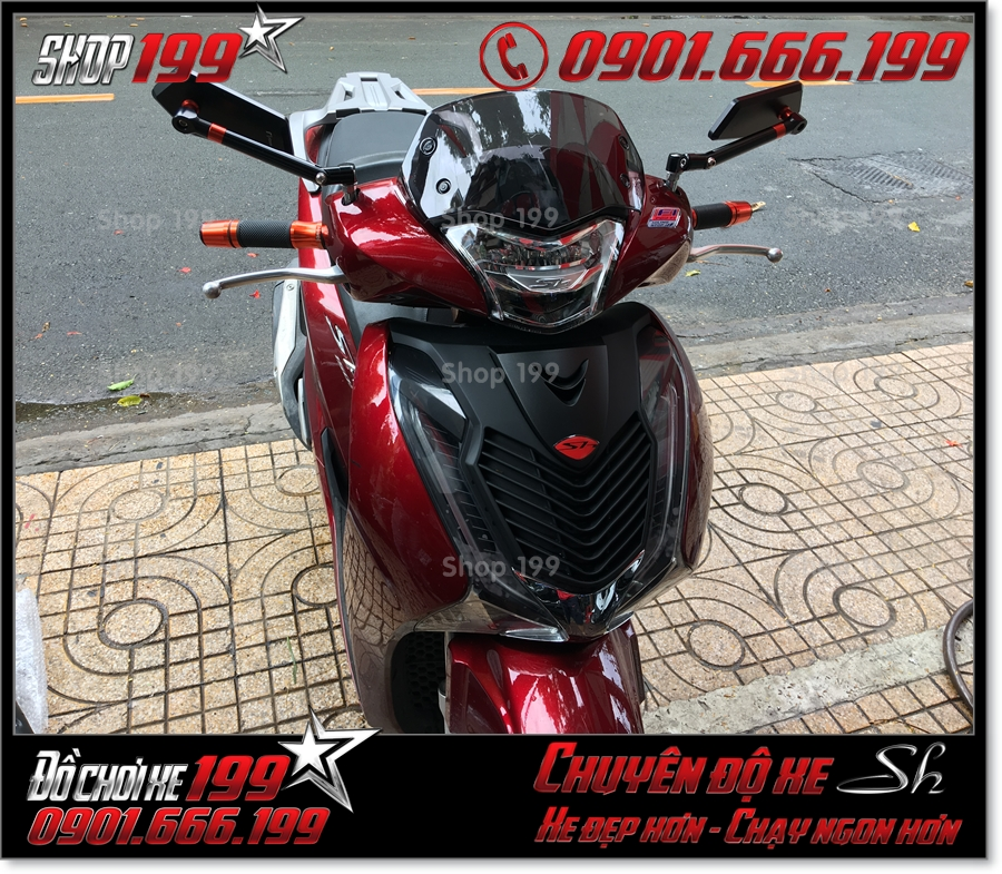 Xem ảnh thay kiếng chắn gió Thái Lan cho Honda SH 150 2017 giá rẻ ở SG 0121