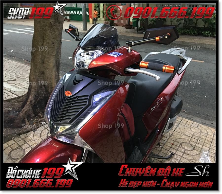Xem Hình xe Honda SH 2017 2018 2019 125 150 thay kính chắn gió nhập khẩu từ Thái đẹp mắt giá rẻ tại TP HCM 5854