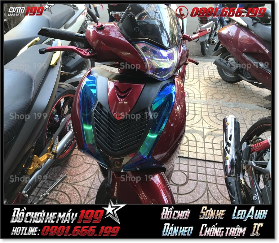 Xem Hình xe Honda SH 150i/125i 2017 gắn mặt nạ kiểng cao cấp, phụ tùng trang trí xe đẹp giá rẻ tại Sài Gòn