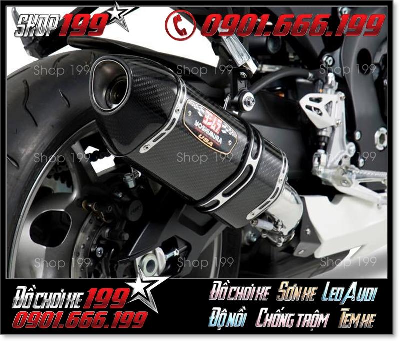 Pô Yoshimura màu đen cực ngầu dành cho xe máy