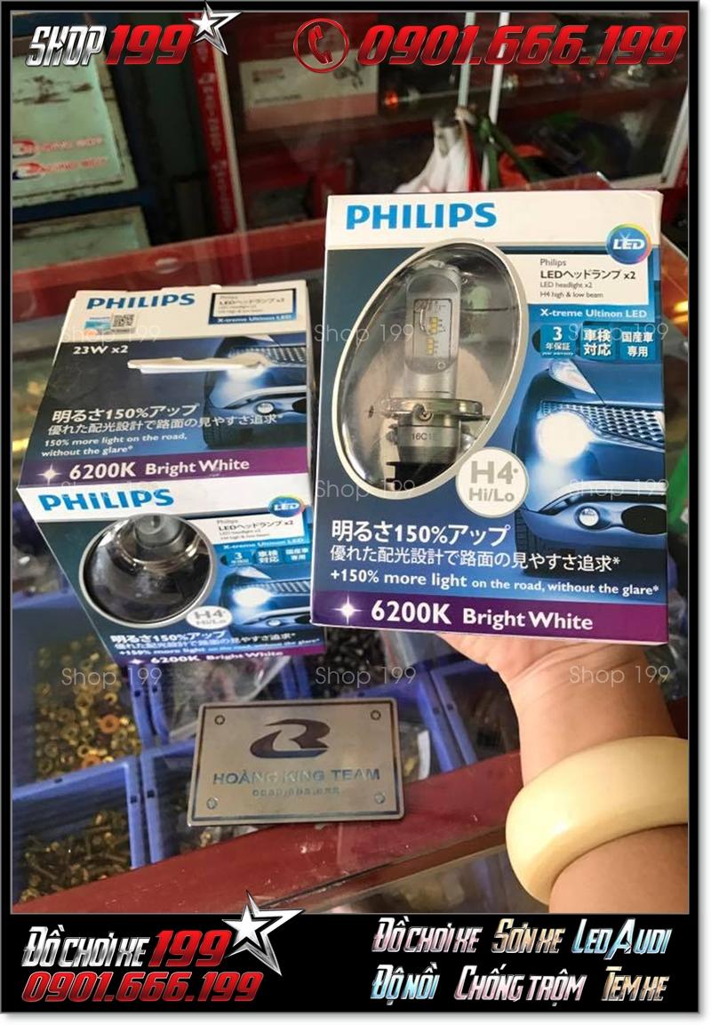 Đèn Pha Led PhilipsXtreme UltinonH4 chính hãng, giá tốt