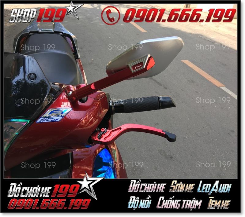 Kính chiếu hậu Rizoma Elisse fake màu đỏ phối siêu đẹp với xe Honda SH 150i 125i