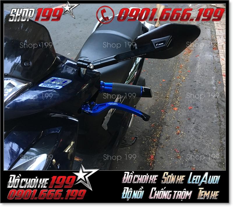 Kính chiếu hậu Rizoma Elisse fake màu đen cực ngầu gắn cho xe Honda SH 150i