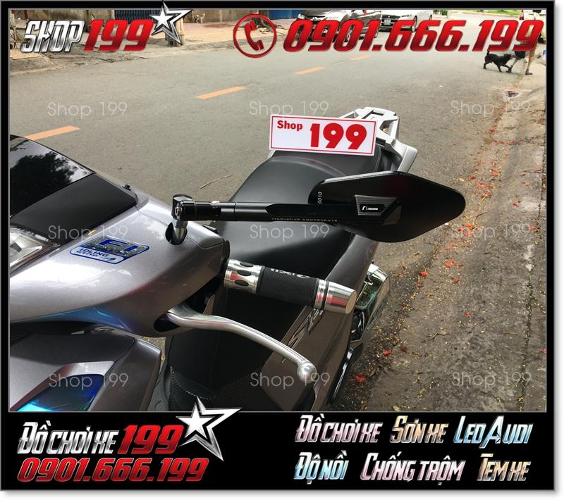 Kính chiếu hậu Rizoma Elisse fake màu đen sang trọng gắn cho xe Honda SH 150i 125i