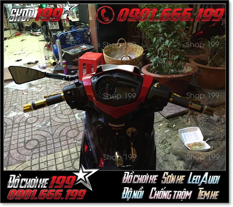 Kính Rizoma tomok 3 cạnh độ đẹp cho xe máy tại HCM