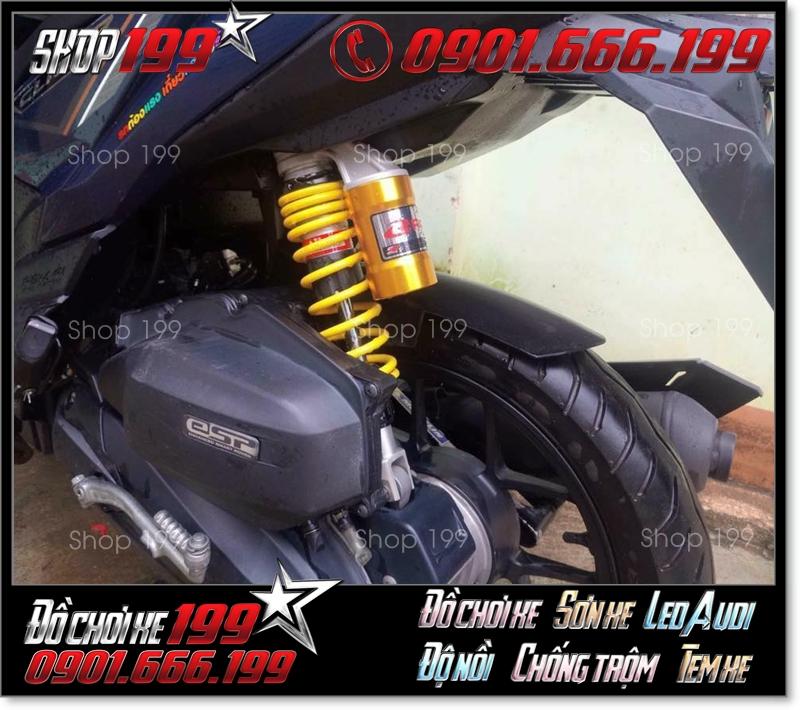 Phuộc Racing Boy có bình dầu màu vàng độ đẹp cho xe CLick Thái 125
