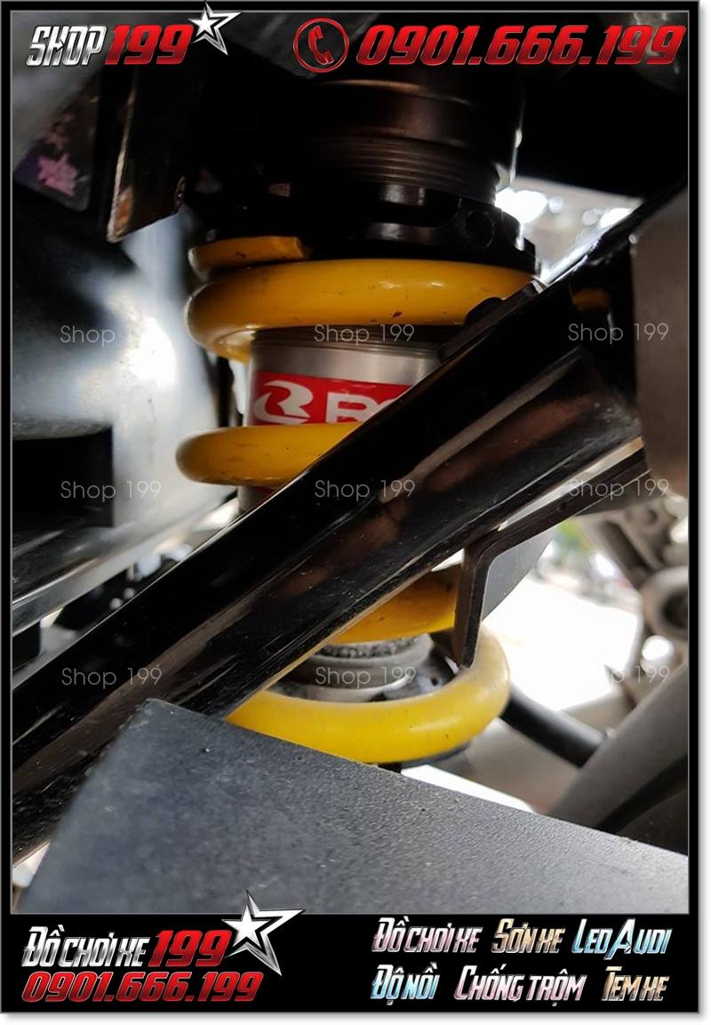 Phuộc Racing Boy màu vàng gắn cho xe Yamaha Exciter và Honda Winner