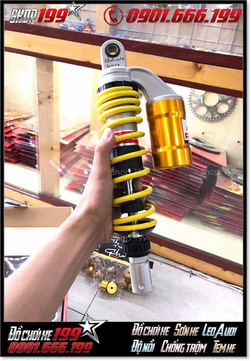 Phuộc Racing Boy có bình dầu màu vàng độ đẹp cho xe CLick Thái 125 Vario 150