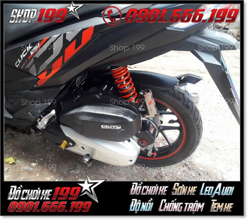 Xe Click Thái 125 độ phuộc màu cam đen siêu đẹp