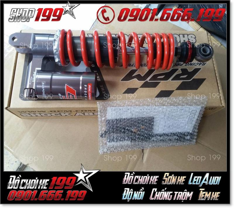 Phuộc RPM màu đỏ độ đẹp cho xe máy các loại