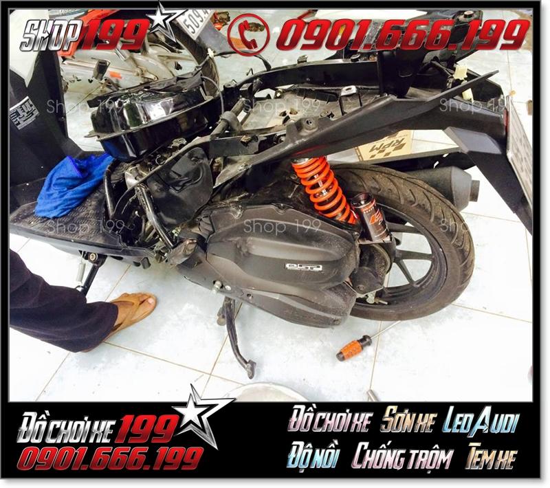 Xe Vario 150 Click Thái 125 độ phuộc màu cam đen siêu đẹp