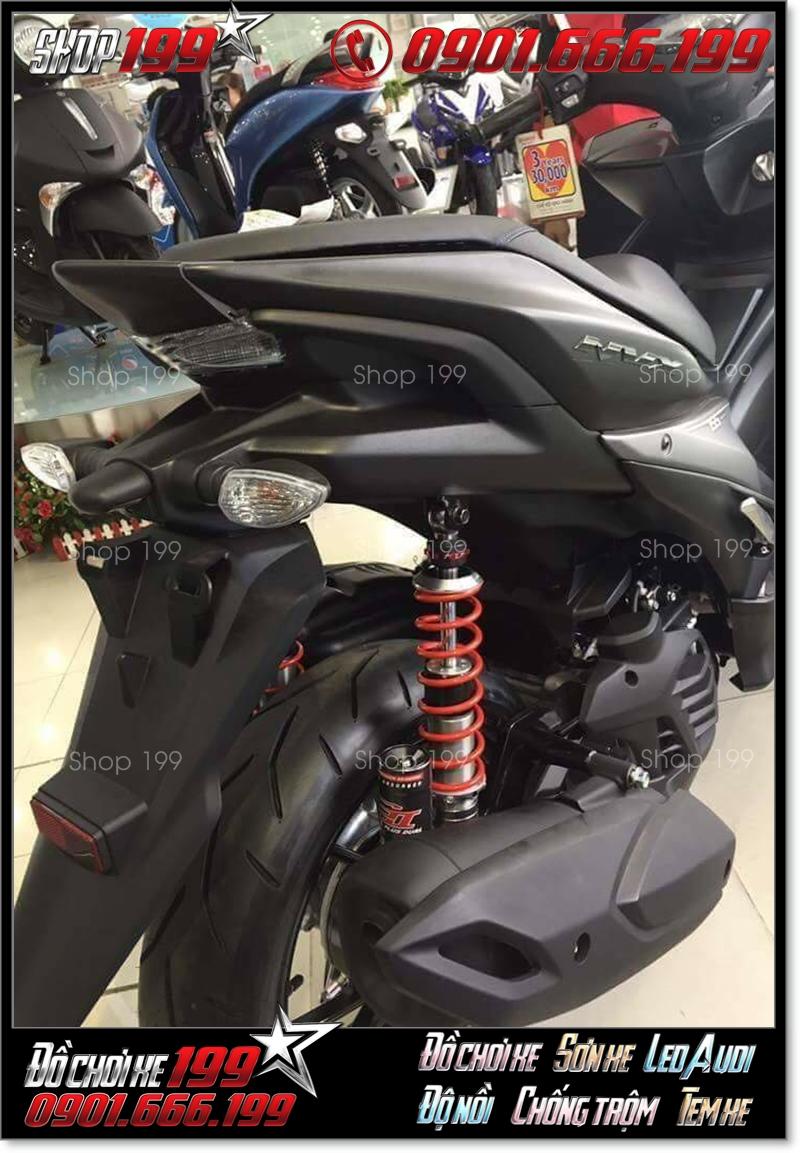 Yamaha NVX màu đen độ phuộc RPM đỏ đen cực ngầu