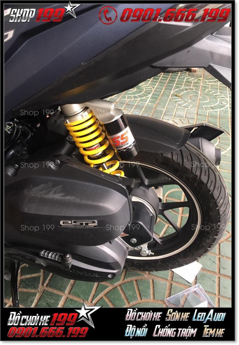 Phuộc YSS bình dầu độ màu đen vàng độ đẹp và bắt mắt cho xe máy
