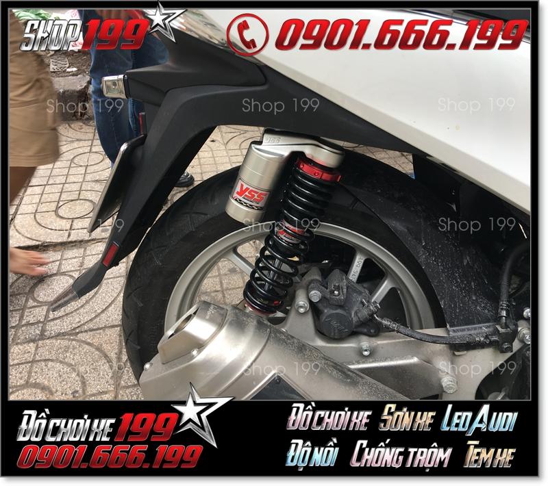 Phuộc YSS bình dầu độ đẹp cho xe Honda SH