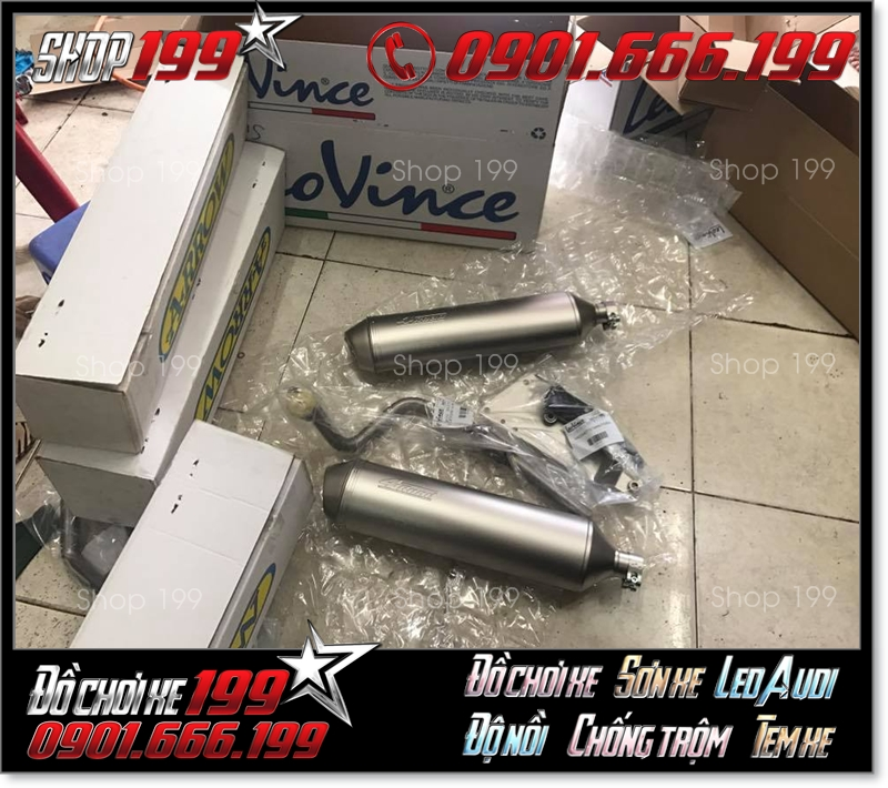 Pô 4road 2008 chính hãng Leovince hàng hiếm nguyên hộp tại shop 199