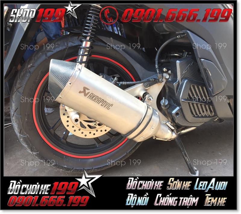 Pô Akrapovic độ đẹp và sang trọng cho xe máy