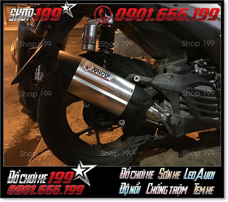 Pô MIVV sang trọng độ đẹp cho xe máy