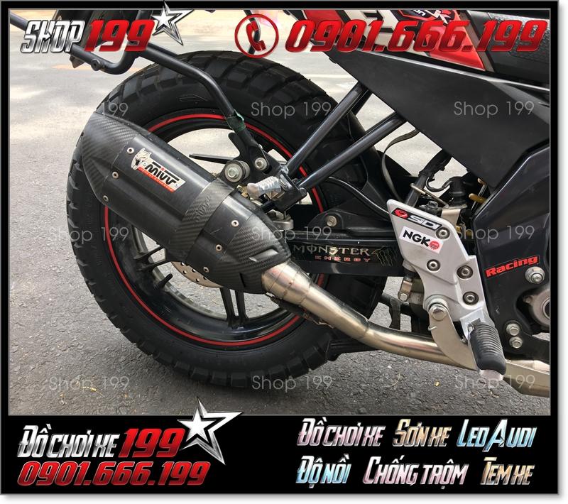 Pô MIVV màu đen độ cực ngầu cho xe máy tại HCM