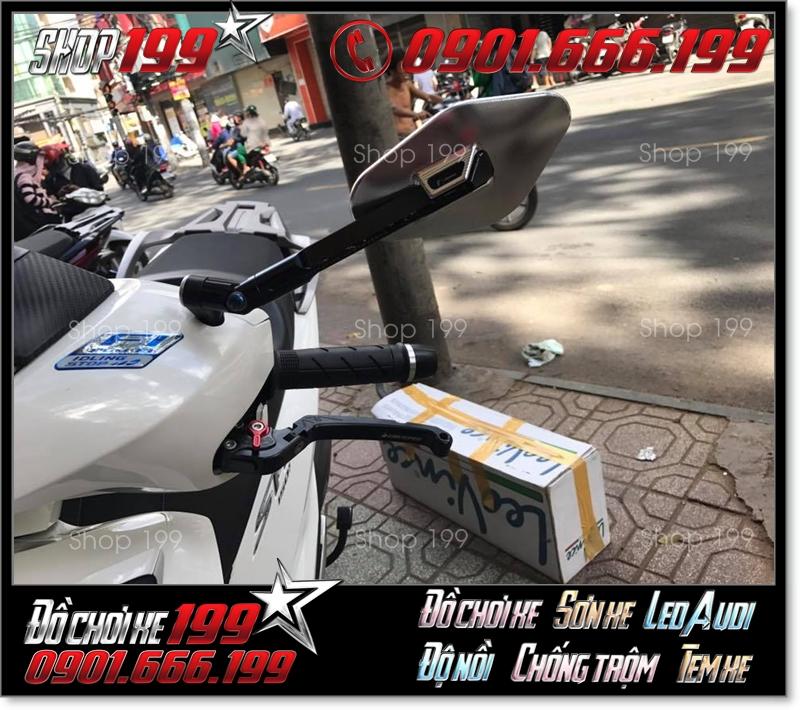 Tay thắng biker 6 số gãy màu màu đen độ ngầu và đẹp mắt cho xe Honda SH