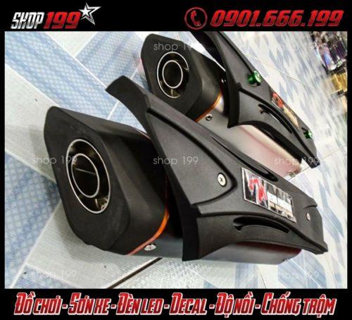 Hình ảnh 2 lon pô R9 độ đẹp cho Yamaha TFX 150