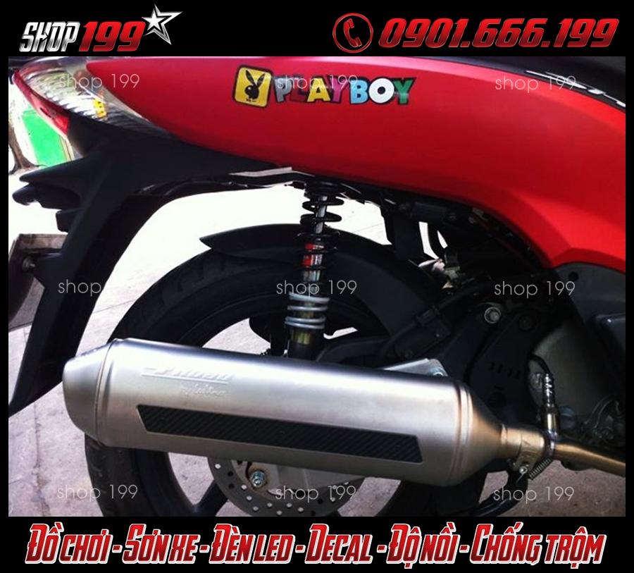 Hình ảnh: Honda SH 300i màu đỏ độ pô 4road cực đẳng cấp và sang trọng