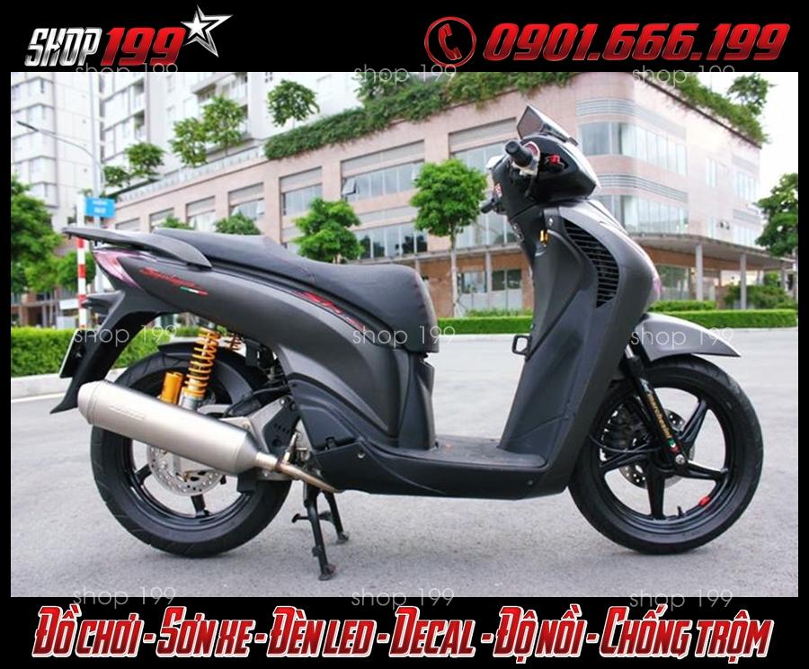Honda sh ý màu đen độ pô 4road cực sang trọng và đẳng cấp tại HCM