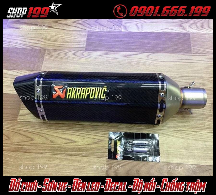 Hình ảnh: Pô Akrapovic màu đen cực ngầu dành cho xe TFX 150i