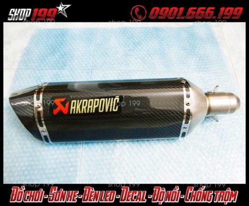 Hình ảnh Pô Akrapovic màu đen độ ngầu cho Yamaha Fz 150i