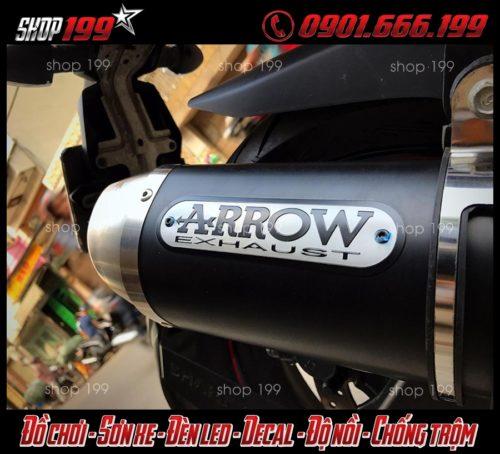 Hình ảnh Pô Arrow màu đen đẳng cấp và ngầu cho xe Yamaha TFX 150i tại HCM