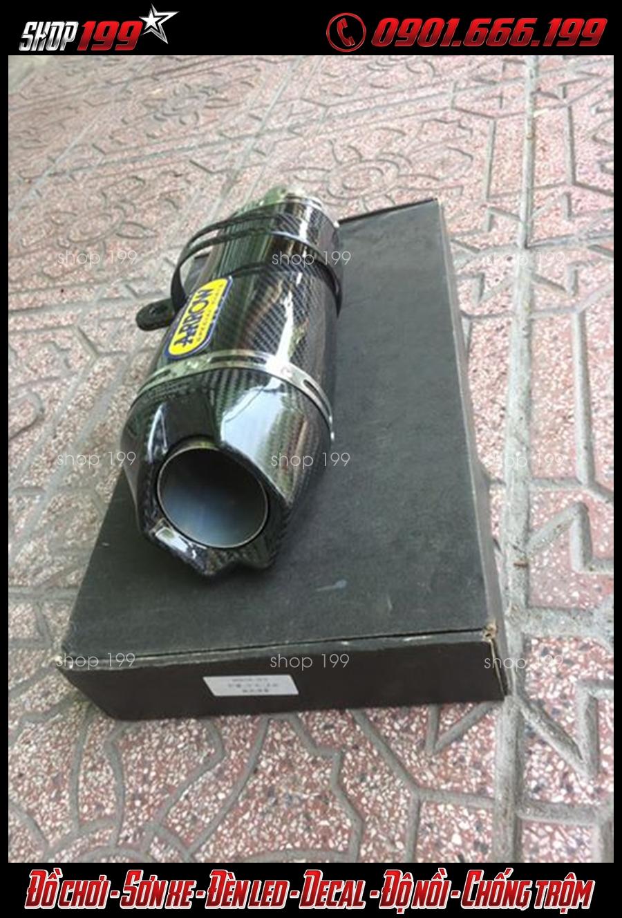 Hình ảnh Pô Arrow màu đen độ đẹp và chất cho Yamaha TFX 150i tại HCM