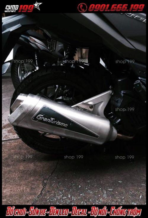 Hình ảnh pô Granturismo độ đẹp cho xe Honda Vario 150 và Click Thái 125