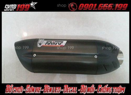 Hình ảnh Pô Mivv màu đen độ cho xe Yamaha TFX 150i