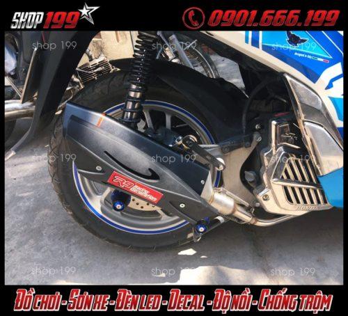 Hình ảnh Pô R9 độ đẹp và ngầu cho xe Honda Sh tại HCM