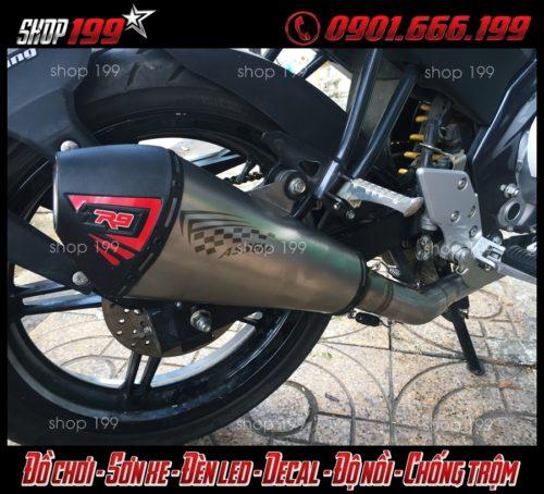 Hình ảnh; Pô R9 đùi gà độ độc và đẹp cho Yamaha Fz 150i