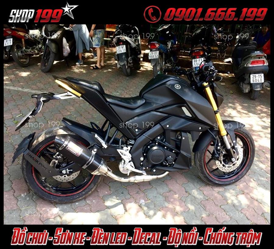 Hình ảnh Pô Yoshimura màu đen độ ngầu và chất cho xe Yamaha TFX 150i tại HCM