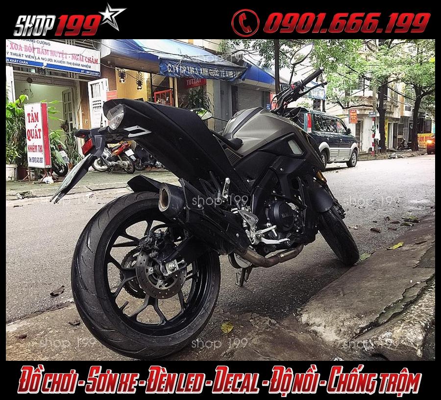 Hình ảnh: TFX 150 màu xám độ pô R9 màu đen bắt mắt và đẹp