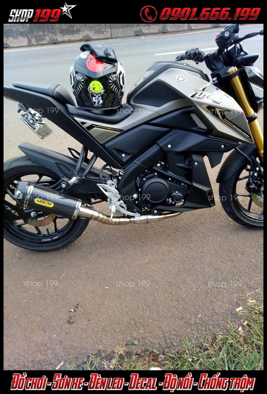 Hình ảnh Yamaha TFX 150i độ pô arrow màu carbon độ đẹp và chất