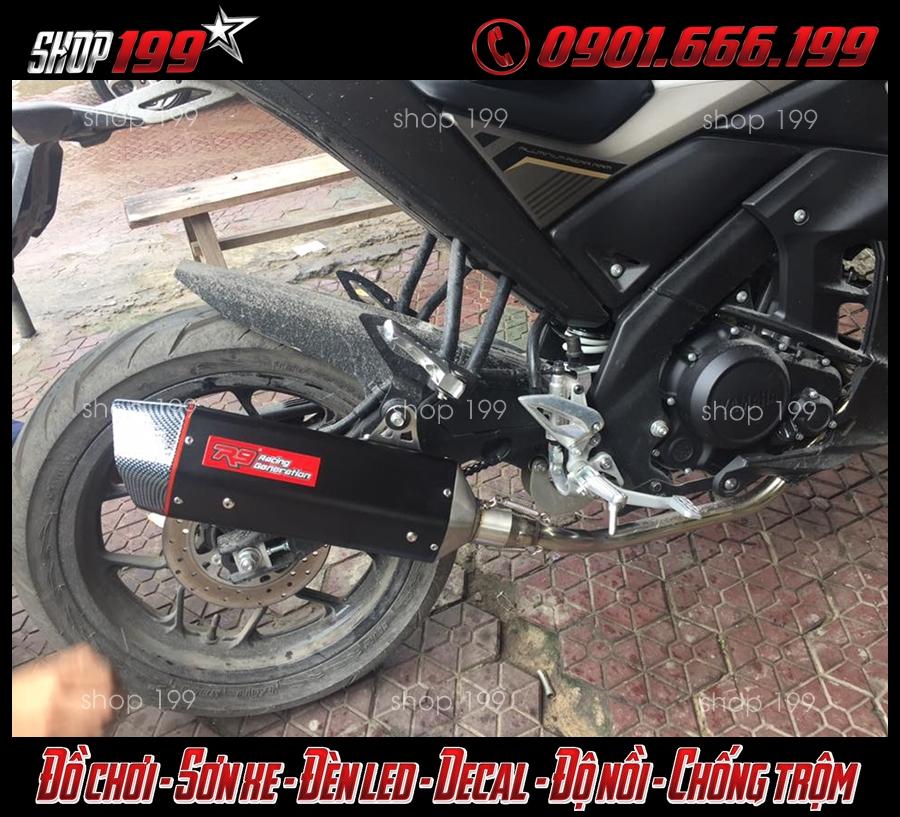 Hình ảnh Yamaha TFX 150i độ pô R9 màu đen ngầu và chất
