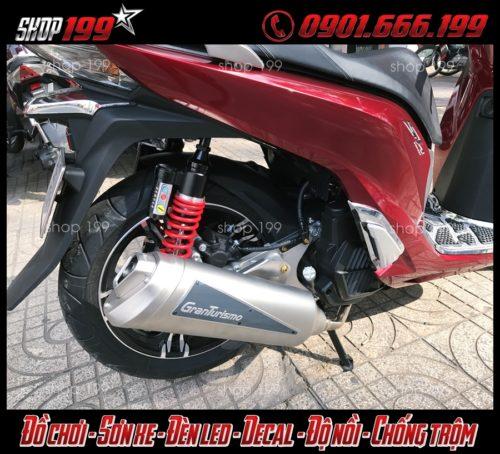 Honda Sh 150i 125i màu đỏ độ pô Granturismo cực ngầu và đẳng cấp tại HCM