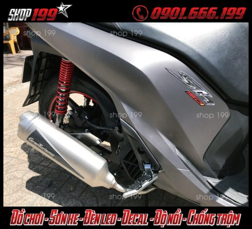 Honda sh 150i 135i màu xám độ pô Granturismo cực chất tại HCM