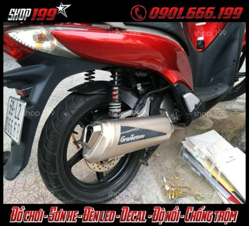 Honda SH 300i độ pô Granturismo cực chất và mạnh mẽ