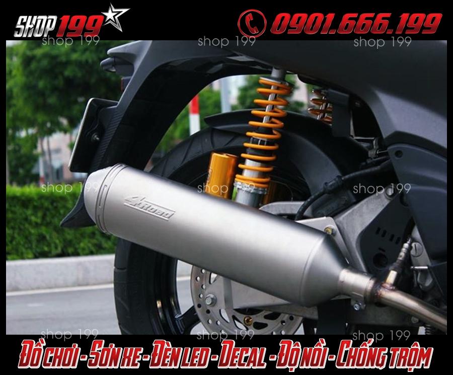 Honda SH Ý màu đen độ pô 4road cực ngầu và sang trọng