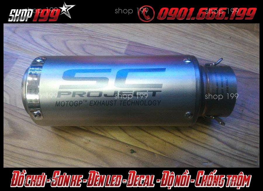 Lon pô SC ngắn màu bạc độ chất và đẹp cho TFX 150